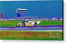 race cars wall art daytona speedway sun bank 24hr Porsche gtp Acrylic Print