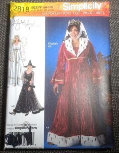 Simplicity 2818 Angel Witch Renaisannce Queen Princess Plus Size Costume Pattern #Simplicity