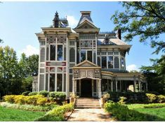 According to Old House Dreams, it started out as a Greek Revival. But in the 1880s, it was rebuilt into the Victorian style it has today. In the 1980s it was beautifully restored and retains most of its historical details.