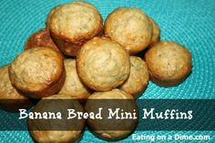 Can't wait to try out these banana Bread Mini Muffins - they also freeze great for a quick snack or breakfast.