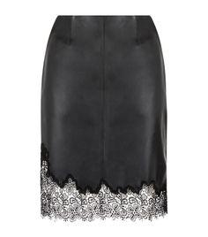 Кожаная юбка Рейсс Лана кружевной отделкой   Harrods