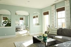 House of Turquoise: Shea McGee Design LOVE this wall color-Paladium