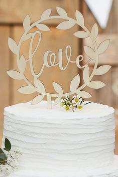 """""""Woow! That is a gorgeous wedding cake!"""" Eh, mom. It's just a pie from the grocery store"""" That's what a lovely cake topper, like this 'Rustic Country' cake topper, can do! 