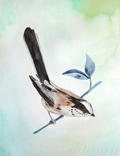 Long Tailed Titmouse I $24