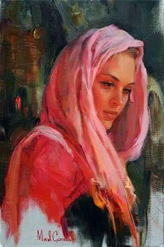 Kai Fine Art: Michael and Inessa Garmash(M&I Garmash). Woman Painting, Figure Painting, Painting & Drawing, Fine Art, Beauty Art, Portrait Art, Beautiful Paintings, Female Art, Female Head