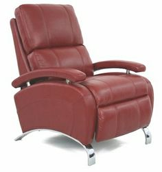 Oracle II Recliner with Stargo Red Top Grain Leather [7-4160-STARGO-RED-FS-BAR]