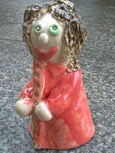 Keramikfigur meiner Tochter mit ca. 10 Jahren