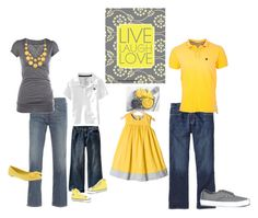 Family Photo Yellow and Gray by emibphotography on Polyvore featuring Levi's, Office, Natasha Accessories, Old Navy, Vans, Petit Bateau, Shabby Chic, Converse and #emiBphotography