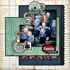 I love this look of matting every element; I'll bet it takes forever! Echo Park paper
