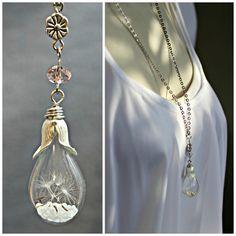 Dandelion Necklace Wish Necklace Dandelion Jewelry by CaptureMyArt, $25.00