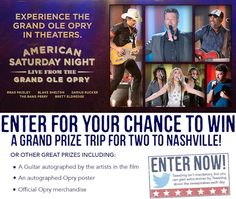 OpryMovie Sweepstakes - See it this February - Win A Trip To Nashville and The Grand Ole Opry