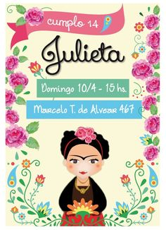 Frida Kahlo Party Printables. Frida Birthday by CumpleKits on Etsy