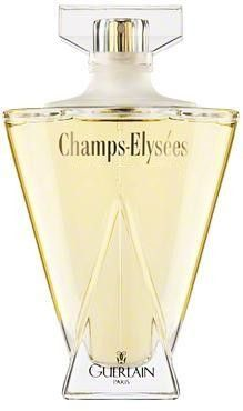 Champs-Elysees by Guerlain is a Floral Woody Fruity fragrance that was first released in 1904, but rereleased in 1996.  It's top notes are black currant, melon, almond, violet, peach and anise.  It's heart has notes of peony, lilac, rose, mimosa, almond blossom, lily of the valley and hibiscus.  The base is sandalwood, almond wood, benzoin, vanilla, and cedar.