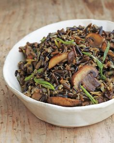 Wild Rice with Balsamic Mushrooms