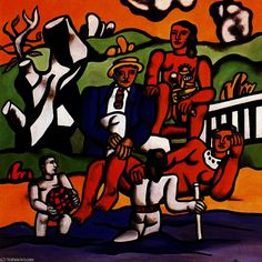 Le champ Trip1, huile de Fernand Leger (1881-1955, France)