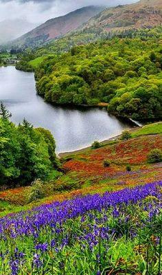 Ambleside é uma cidade da Cúmbria, no noroeste da Inglaterra. Historicamente situada no condado de Westmorland, está próxima de Windermere, o maior lado da Inglaterra. A cidade está dentro do parque nacional de Lake District. Cumbria, Lake District, Places To Travel, Places To See, Beautiful World, Beautiful Places, British Countryside, England And Scotland, England Uk