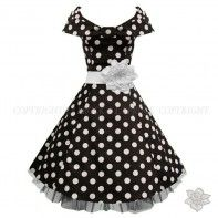 "LaFrock's  Mad Men ""Billie"" black and white 40's prom dress"