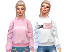 10 cute sweatshirts! Found in TSR Category 'Sims 4 Female Everyday'