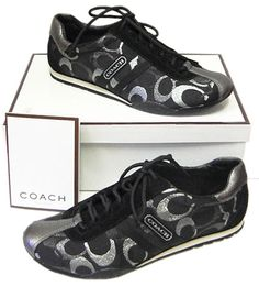 coach tennis shoes - so cute.these would match my purse ♡ Coach Tennis Shoes, Coach Sneakers, Coach Shoes, Coach Handbags Outlet, Coach Purses, Coach Outlet, Cute Shoes, Me Too Shoes, Couch Bag