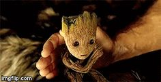 Groot Is Listening to Some Music
