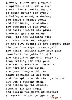 poem, poetry, pagan, wicca, witch, witchcraft, bohemian, magick, spell
