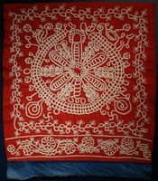 Display of Embroidered Towels with Geometric Patterns, early 19th-late 20th century. Russia. Private Collection of Susan Johnson. Varied materials and techniques.