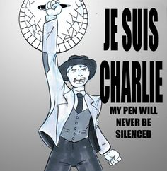 #JeSuisCharlie Picking up #SketchDaily in 2015, and it saddens me that it starts be commiserating the lost of twelve brave French souls who exercised their freedom of speech and were silenced by a mad man's gun.   Good night, my friends, travel well...