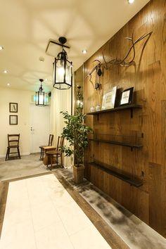 Largoが手がけたレンガを使ったヨーロピアンな雰囲気の美容室の内装実例