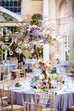 Wedding Themes Enchanted forest wedding theme - Lauren and Tim brought the outside in for their September wedding, embracing dramatic floral displays and enchanting towering trees Wedding Centerpieces, Wedding Bouquets, Wedding Flowers, Wedding Decorations, Wedding Dress, Quince Decorations, Table Centerpieces, Diy Wedding, Wedding Reception