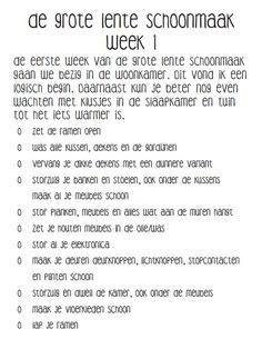 De Grote Lente Schoonmaak Week 1 Move In Cleaning, House Cleaning Tips, Cleaning Hacks, Diy Agenda, Housekeeping Tips, Best Planners, Home Management, Real Housewives, Life Organization