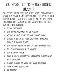 De Grote Lente Schoonmaak Week 1