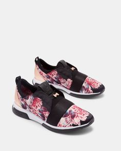 c92e9655e99fe1 Printed running trainers - Black