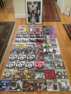 Awesome pictures of a partial Misfits vinyl collection