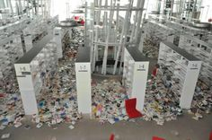 The library of the Sendai Mediatheque. Japan ...after the earthquake