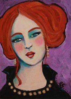 "Daily Paintworks - ""Alexandra"" - Original Fine Art for Sale - © Roberta Schmidt"