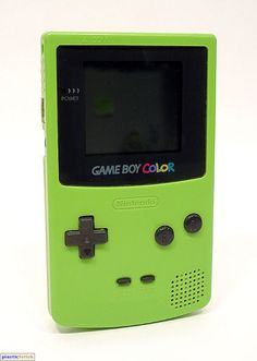 Game Boy Color (Kiwi).   I had this exact one, With a purple worm light.
