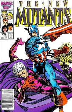 New Mutants #40 (Jun '86) cover by Barry Windsor-Smith.