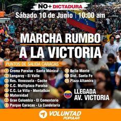 Mañana #10Jun los venezolanos retomamos las calles para exigir libertad. . Han sido 70 días de protestas en contra de una dictadura que quiere reprimir y castigar a todo aquel que se manifieste en su contra. Pero no nos vamos a dejar intimidar. . Durante estos 70 días hemos sabido resistir con fuerza y con coraje. Han sido muchos los heridos y han sido muchos los caídos y por ellos tenemos el deber moral de seguir adelante. . Esta lucha no será en vano. Vamos a conquistar la libertad y la…