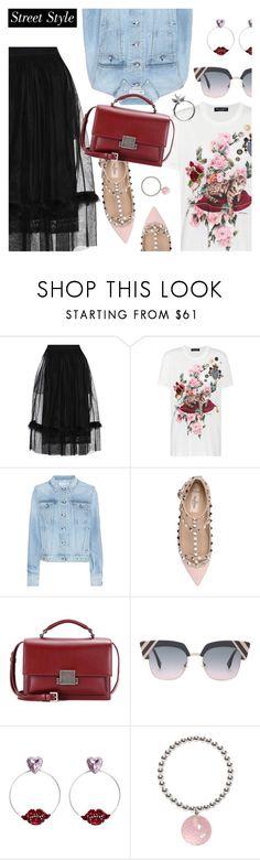 """Street Style"" by dressedbyrose ❤ liked on Polyvore featuring Simone Rocha, Dolce&Gabbana, rag & bone, Valentino, Yves Saint Laurent, Fendi, Anton Heunis, ORA Pearls, Roz Buehrlen and StreetStyle"