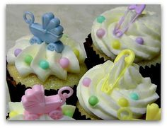 baby cupcakes ideas | Baby Shower Cupcake Ideas, Supplies, and Decorating Tips