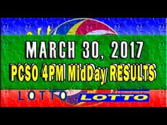 PCSO MidDay - 4PM Results March 30, 2017 (SWERTRES & EZ2) Lotto Results, Lottery Tips, April 25, February, Positive Affirmations, Online Business, Stress, Positivity, Youtube