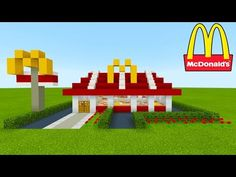 Minecraft Tutorial: How To Make A McDonalds (Restaurant) 2019 City Tutorial - Minecraft Mods, Minecraft Stores, Minecraft Villa, Cute Minecraft Houses, Minecraft City Buildings, Minecraft Mansion, Minecraft Plans, Amazing Minecraft, Minecraft House Designs