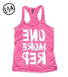 Workout. ONE MORE REP. Cute. Workout Tank. by EnlightenedState, $15.99 LOVE IT