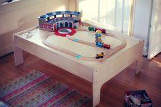 Modern Train Table for Kids