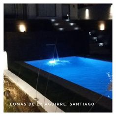 """Lomas de Lo Aguirre 🔝 cotiza tus ideas con nosotros. . . .  #piscinadehormigon #piscinascondiseñochile…"""" Instagram, Outdoor Decor, Ideas, Home Decor, Night, Interior Design, Home Interior Design, Home Decoration, Decoration Home"""