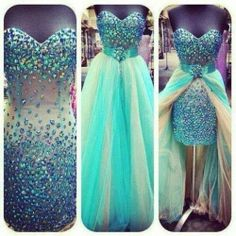 Two Piece Prom Dresses with Detachable Skirt Crystal Evening Gowns Blue High Low Short Party Dresses 2017 Vestidos de renda