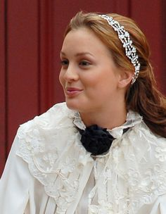 Blair Waldorf in Jennifer Behr :: Gossip Girl :: headbands :: headwrap :: New York :: crystal :: silk :: hair :: beauty