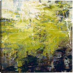 Latourell I Abstract Canvas Wall Art Print by Karen Silve
