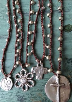 Items similar to Bohemian style crochet 925 silver beads sterling artisan cross shabby chic glam necklace by MarleeLovesRoxy on Etsy Crochet Beaded Necklace, Crochet Bracelet, Beaded Jewelry, Jewelry Necklaces, Bracelets, Jewellery, Statement Jewelry, Crochet Jewelry Patterns, Crochet Accessories