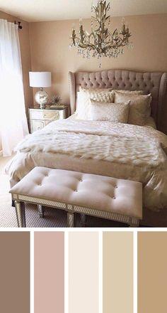 12 gorgeous bedroom color schemes that will give you inspiration for your next bedroom remodel - kleine Zimmer - Bedroom Next Bedroom, Romantic Master Bedroom, Master Bedroom Design, Beautiful Bedrooms, Home Decor Bedroom, Modern Bedroom, Bedroom Furniture, Bedroom Ideas, Trendy Bedroom
